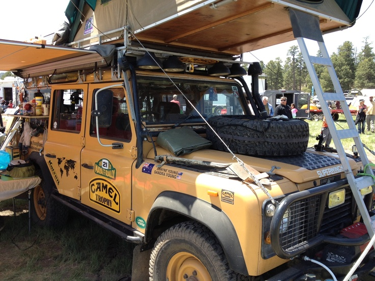 Land Rover Camel Defender Lots Going On Here Forward