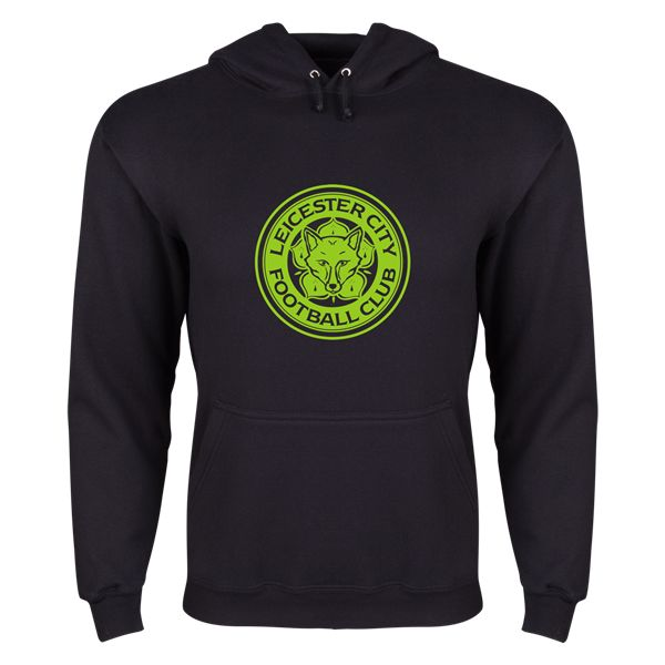Leicester City FC Hooded Pullover Fleece (Black)
