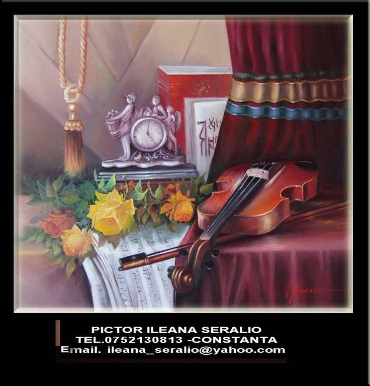 Pictura ulei pe panza culori profesioniste Italia-franta executie in varf de cutit-relief sau classic pretul ...