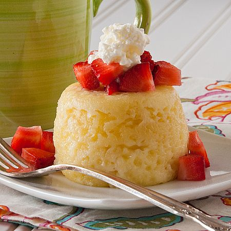 Sponge Cake in a Mug ~ no one would believe this delightful moist little cake was made in a microwave! ;D