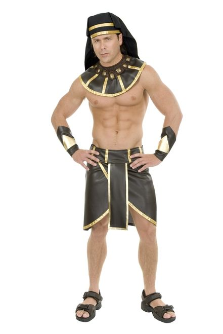 Egyptian Pharaoh Costume - Rule over your kingdom in style with this fantastic Egyptian Pharaoh costume. Includes waist wrap, collar, headpiece and wrist guards.Perfect for Halloween or Egyptian themed parties. #YYC #Calgary #costume #Pharaoh #Egypt #Egyptian