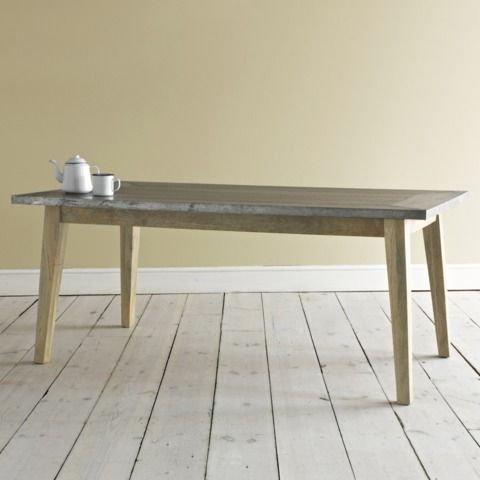 Zinc Kitchen Table With Geronimo And Cafe Au Lait Chairs