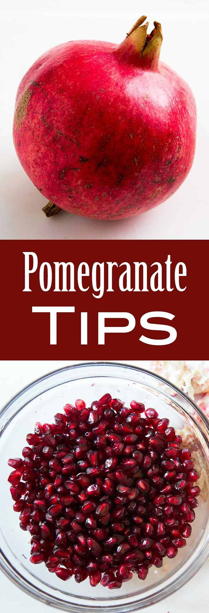All about pomegranates, how to choose them, store them, and what to cook with them! #pomegranates #pomegranateseeds