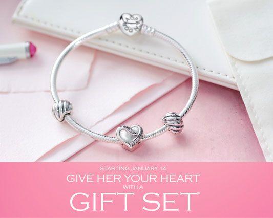 pandora filled with love bracelet gift set save 25 pandora mall of america - Pandora Valentines Bracelet
