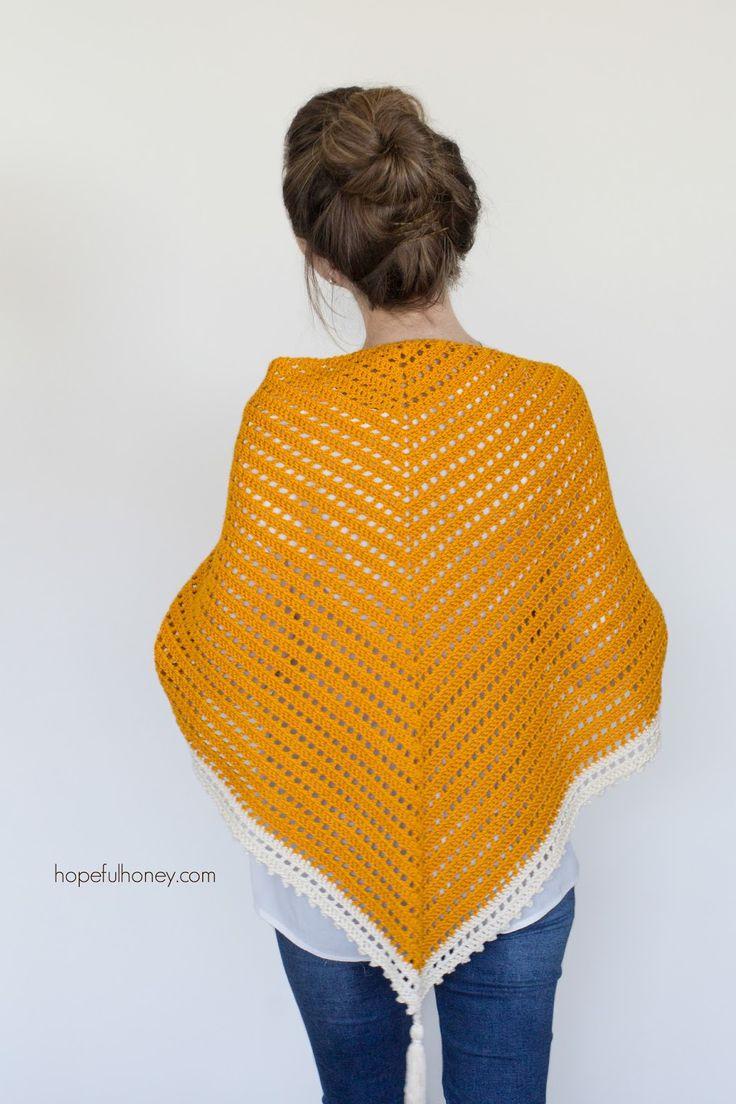 Miel Bird bufanda del triángulo - libre del patrón de ganchillo