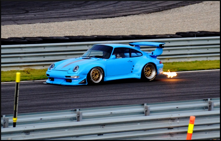 blue porsche 993 gt2 evo spitting fire everyday993 porsche everyday 993 pinterest blue. Black Bedroom Furniture Sets. Home Design Ideas