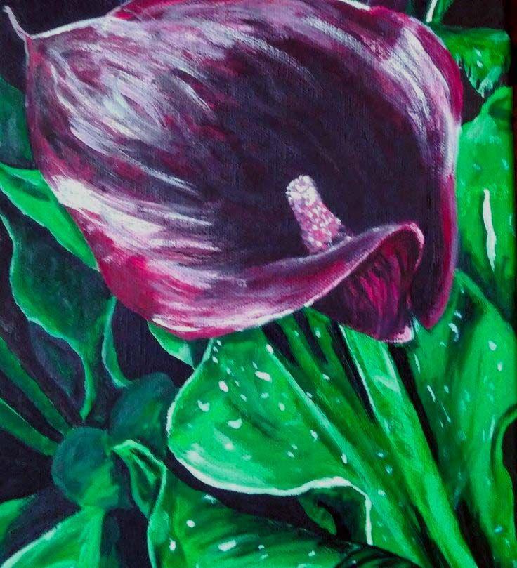 Calla lily. Acrylic.