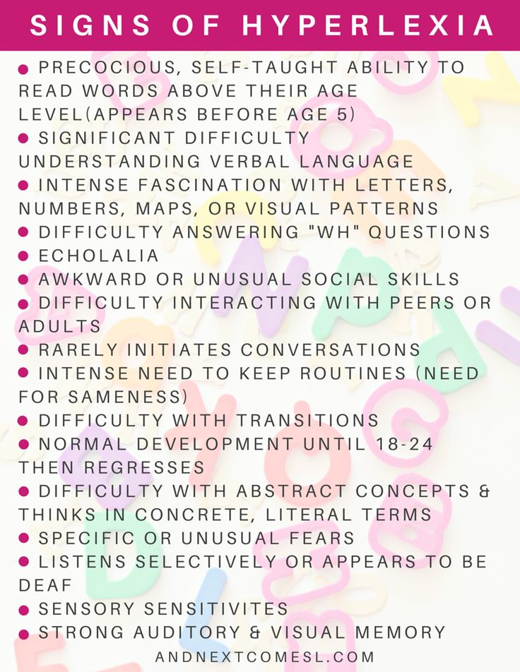chrome hearts online store What are the signs of hyperlexia  from And Next Comes L