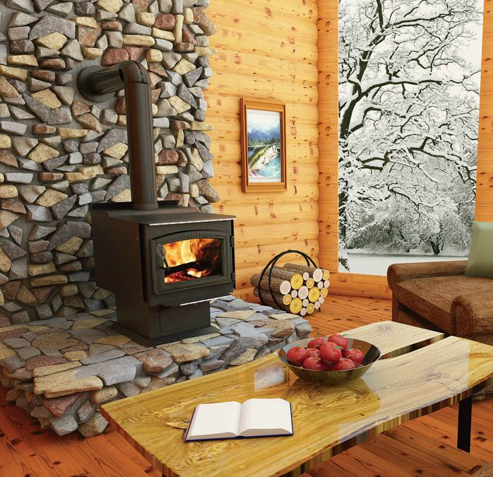 Cozy up to this highly efficient Vogelzang wood stove