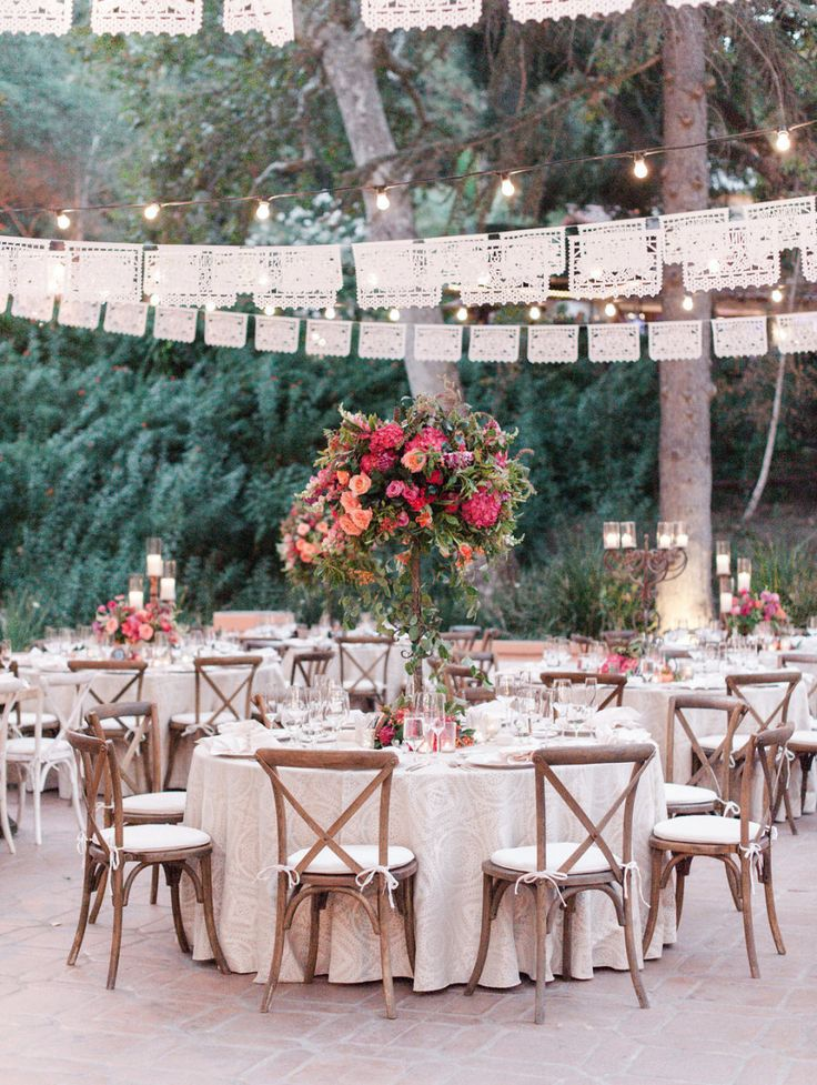La Tavola Fine Linen Rental: Morse Code Pearl with Hemstitch White Napkins | Photography: McCune Photography, Event Planning: High Society Wedding & Event Planning, Floral Design: Inviting Occasion, Tabletop Rentals: Casa de Perrin, Vintage Rentals: Found Vintage Rentals,  Venue: Rancho Las Lomas