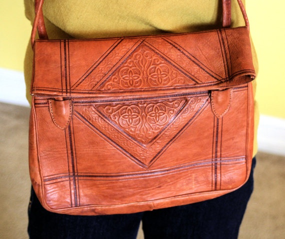 Genuine Leather Purse from Morocco Vintage by eclecticquirky, $25.00