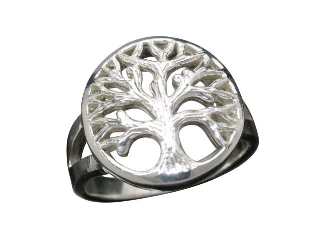 Sterling Silver 15mm Tree Of Life Ring