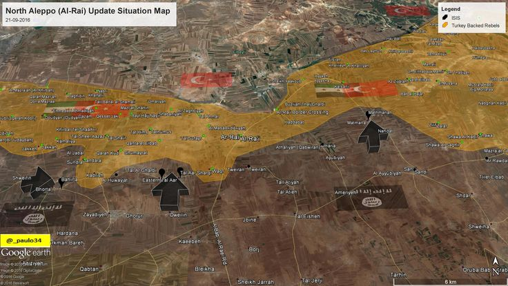 North #Aleppo Situation Map  21-09-2016 #Syria #Rebels & #Turkey vs #ISIS