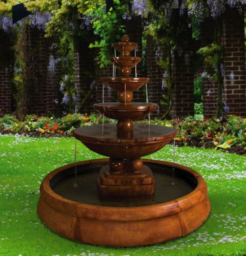 Spheres Fountain In Crested Pool #gardendecor #fountain #highend