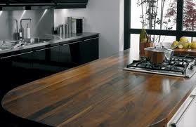 dark wood work top