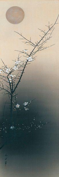 「夜梅」Plum at Evening, 1930 – 速水御舟 Hayami Gyoshū (速水 御舟 Hayami Gyoshū, August 2, 1894 – March 20, 1935).