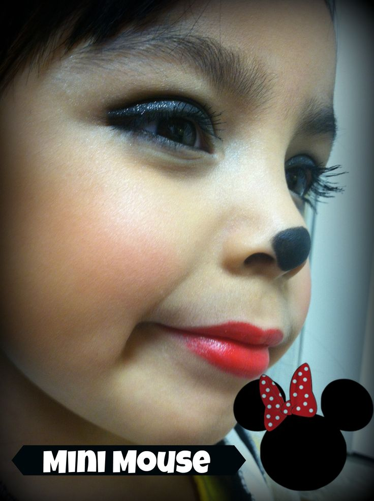 Minnie Mouse Make Up Look The Look For Little Girls Pinterest Minnie Mouse Make Up Looks