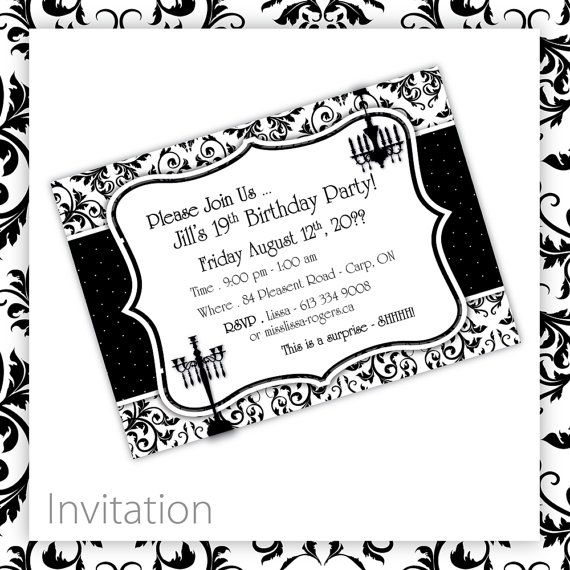 89 best BIRTHDAY PARTY Printables images – Classic Party Invitations