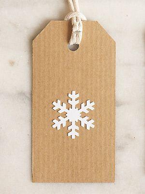PP snowflake gift tag