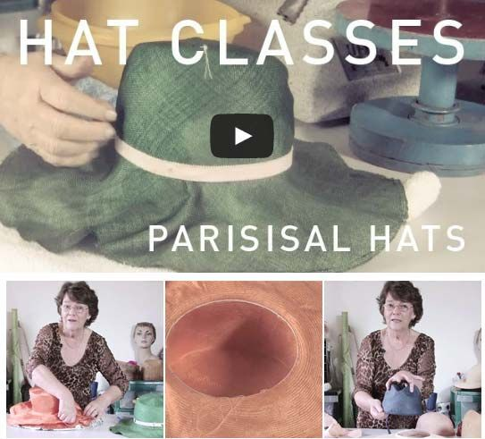 HAT CLASSES: WORKING WITH PARISISAL #millinery #Hats #HatAcademy