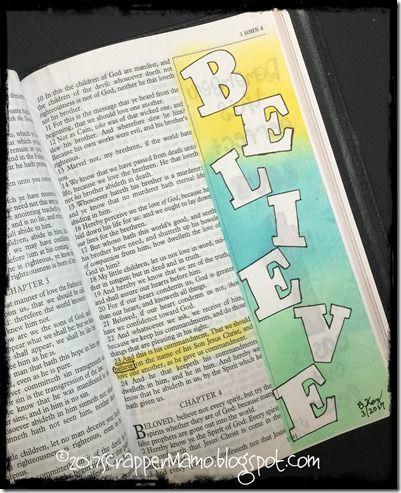Bible Art - 1 John 3-23 Believe