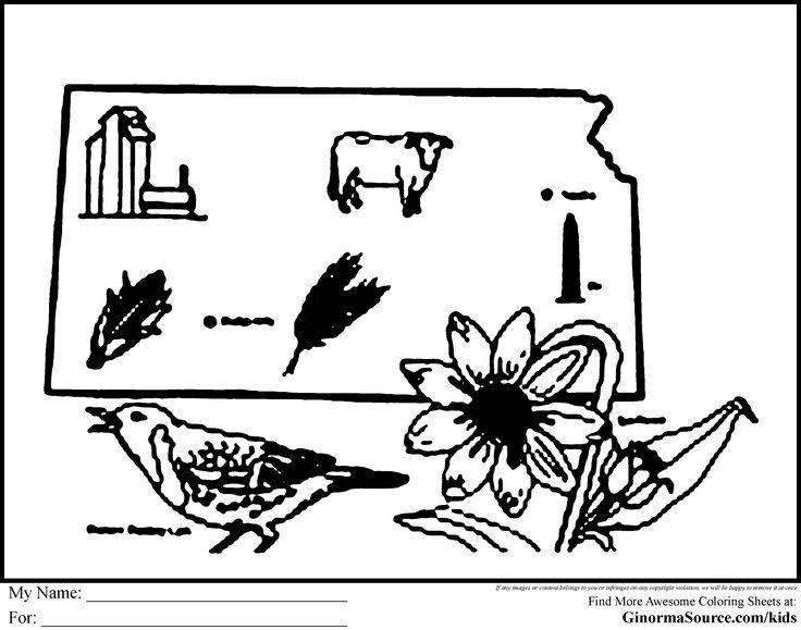 Kansas day coloring pages for kids ~ Kansas Coloring Pages | Sports coloring pages, Kansas city ...
