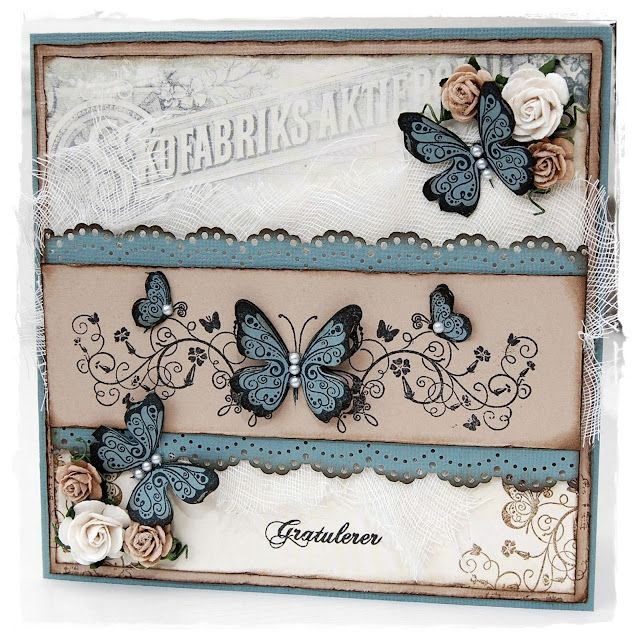 beautiful :) Going to make my own version of this replacing the ribbon flowers with stamps because it will be to thick to go through the mail!