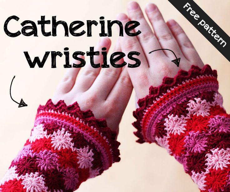 Pattern for Catherine #crochet wristies on Haakmaarraak! | English translation of Netherlands website