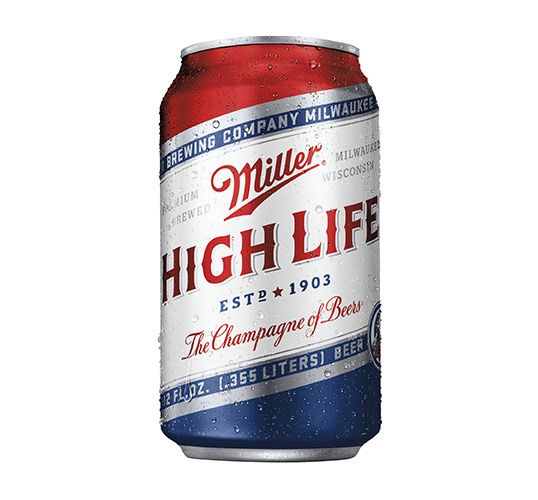 """""""In 2010, Miller High Life reclaimed its status as the iconic American beer. The strategy was simple, embrace the brand's quality and rich 100+ year history. After reclaiming its old glory, High Life tests its true colors with this summer's special edition can. Standing tall in red, white and blue, Miller High Life is perfect for patrons and patriots alike."""""""