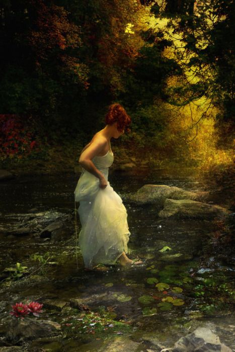 a dress for midnight stroll in the river: Water, Claudia Bartoli, Dream, Beautiful, Bartoli Mckinney, Beauty, Artist, Painting, Fairytale