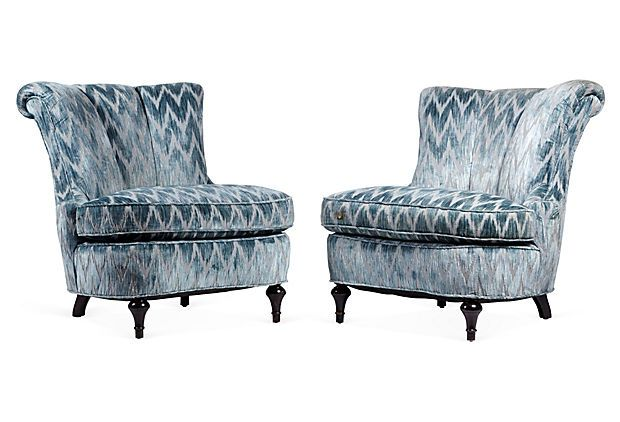 1940s Slipper Chairs, Pair on OneKingsLane.com
