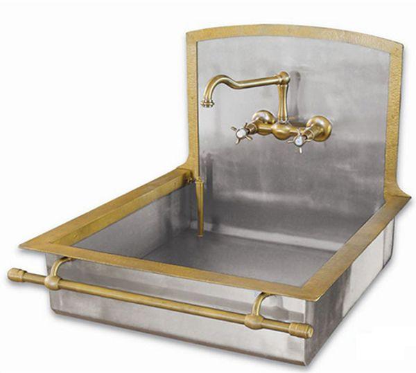 Messing-Spülen-Wasserhahn-für-separates-warmes-und-kaltes-Wasser