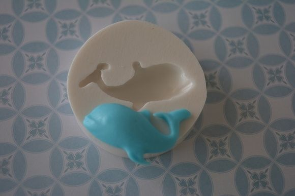 Molde de silicone baleia pequena