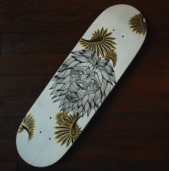 Planche skateboard personnalisée Wax lion