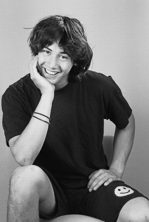 Keanu Reeves; Glad he outgrew this look! kn