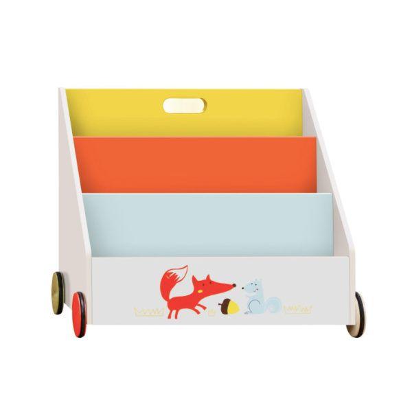 Librería Infantil De Madera Con Ruedas Con Tres Estantes De Labebe Decoracion Infantil Estante De Madera