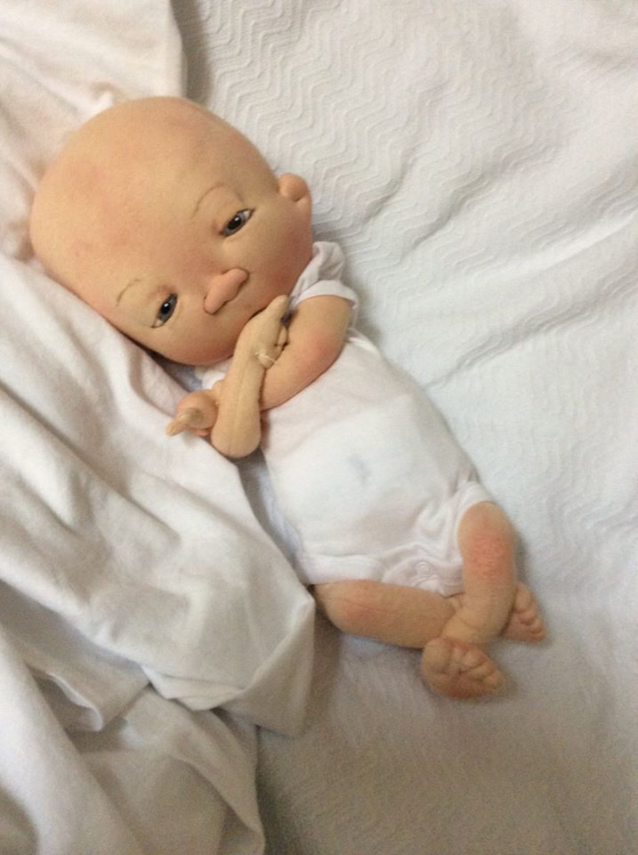 THE LABOR DAY BABY  by doll artist Jan Shackelford Facebook Jan Shackelford  www.janshackelforddolls.com