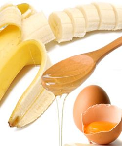 Banana egg and honey hair mask used it on my hair and it does work make sure bananas  are blended well its hard to get banana chunks out of your hair