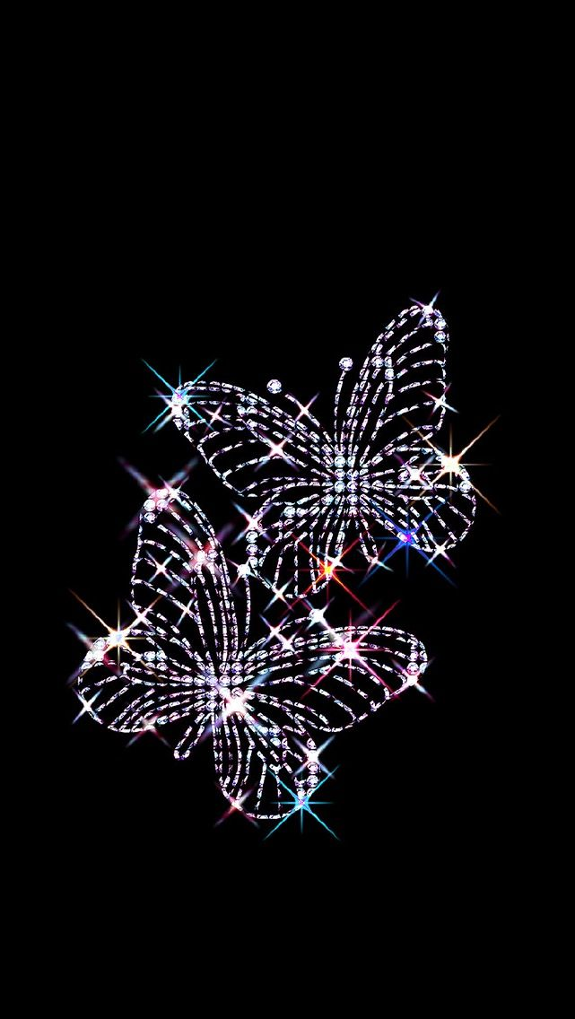 Wallpaper Paris Pink Cute Sparkly Butterfly Fondos Mariposas Fondos De Pantalla