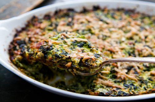 Veja uma receita de suflê de espinafre sem lactose e glúten delicioso! Leva até nozes, uma maravilha que ainda é livre de lactose e glúten.