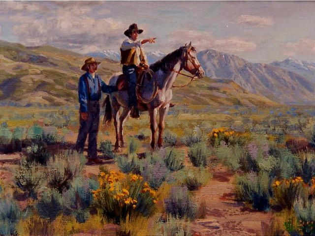 Orson Pratt and Erastus Snow at the end of the Mormon Trail