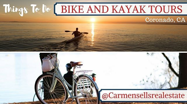 Looking for something fun to do in San Diego this weekend? Here's a great outdoor recommendation, head to the Bike and Kayak Tour at Coronado. . . . #Realtor #RealEstateAgent #SanDiegoRealEstate #SanDiego #BuyHouse #NewHome #CarmenRealEstate #Listings #RealEstate #HouseHunting #thingstodoSD #funeventsSD - posted by Carmen Piscitelli https://www.instagram.com/carmensellsrealestate - See more San Diego Real Estate photos from Local San Diego Realtors at https://LocalRealtors.com/stream