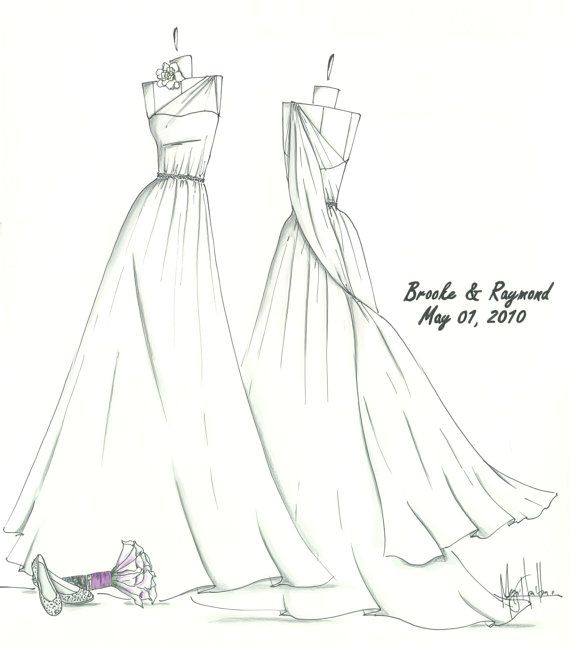 Wedding Dress Line Drawing : On dress drawing simple sketches and cool art drawings