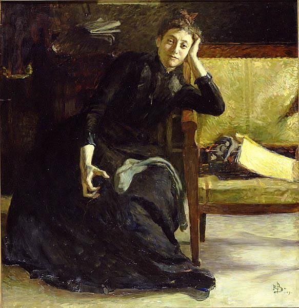 Konstnärinnan Eva Bonnier av Richard Bergh 1889 - Eva Bonnier – Wikipedia