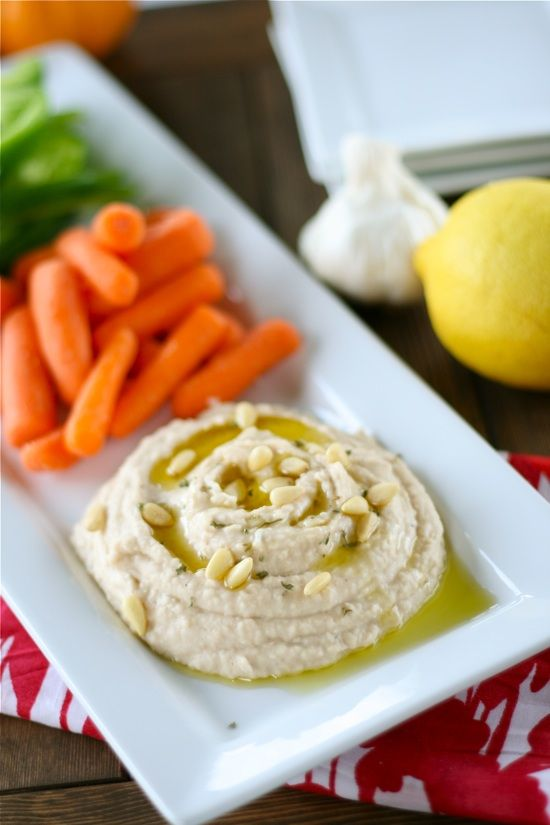 Roasted Garlic & White Bean Hummus via Lauren's Latest