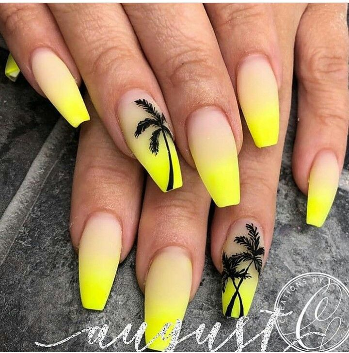 Pin By Thedeluxeclosett On Griffe Tree Nails Palm Tree Nails