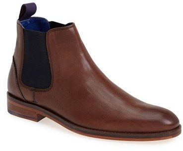 $149, Ted Baker London Camroon Chelsea Boot. Sold by Nordstrom. Click for more info: https://lookastic.com/men/shop_items/234681/redirect