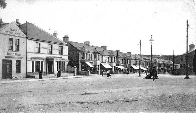 The Trelawny Hotel, St Budeaux Square, Plymouth early 1900s by derektait, via Flickr