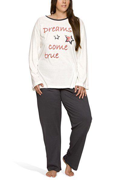 0142c9bafaee77 Damen Schlafanzug in großen Größen (Übergröße XL - 4XL) mit Motivdruck  'Dreams come