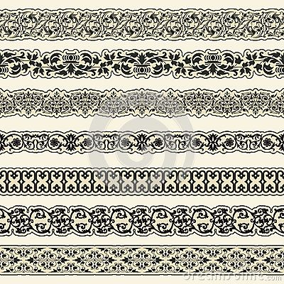 Vintage border set for design by Alexander Konahin, via Dreamstime